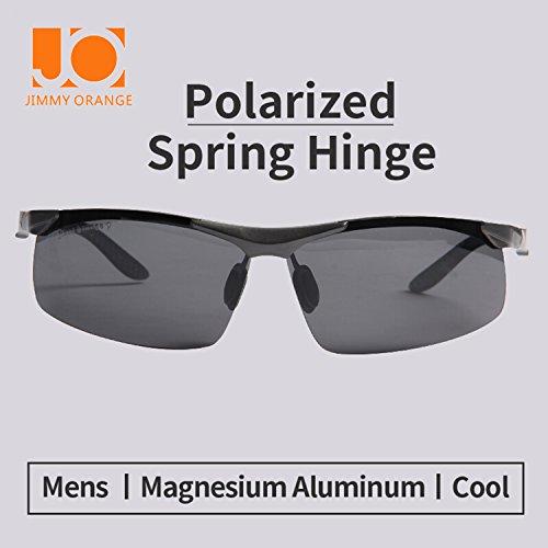 Hombres al Ciclismo Libre deSol Sol Aluminio Jimmy Calidad de marco de negros Gafas Polarizado Conducción Orange Gafas Alta gris JO671 Magnesio de Mujeres Aire lentes ZqCZwY0O