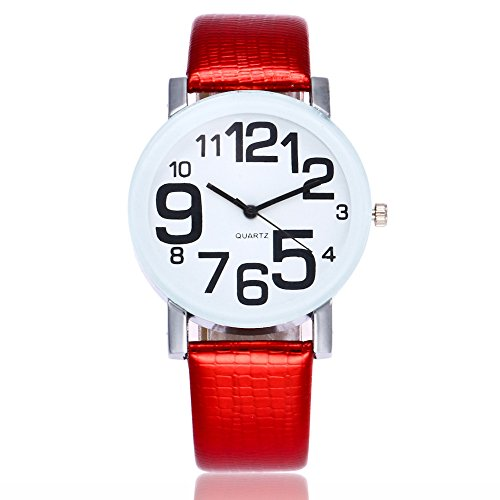 Women's Digital Pattern Watch, Clearance Woman Ladies Girls Fashion Dress Analog Quartz Wrist Watches on Sale PU Leather Bracelet Band Strap by St.Dona (Fashionable Pu Band)