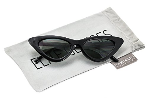 Cat Eye Sunglasses Sexy Womens Exaggerated Slim Frame Colorful Tented - Elite Sunglasses