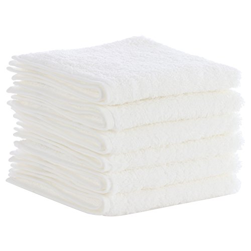 Caribbean Natural Egyptian Cotton Washcloth 6 Pack-Soft Ring-Spun Cotton- Perfect For Homes, Bathrooms, Pools & Gyms, Infants, Toddlers, and Families, Free of Harsh Chemicals (Holiday Washcloth)