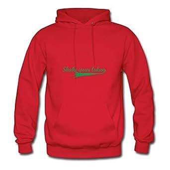 X-large Casual Red Sweatshirts For Women Cotton Diatinguish Shake Your Lulav