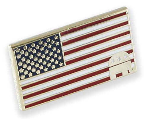 Forge American Flag Republican Elephant Lapel Pin (50 Pins) ()