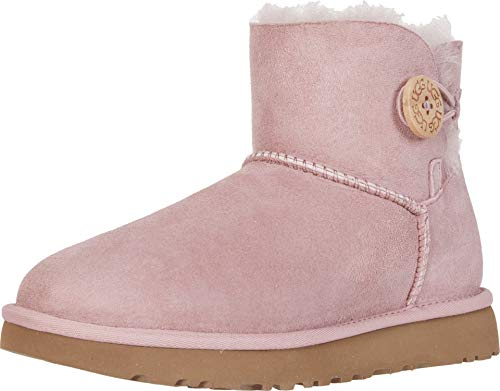 UGG Women's Mini Bailey Button II Boot Pink Crystal Size 8 B(M) US (Uggs Boots Women Size 8)