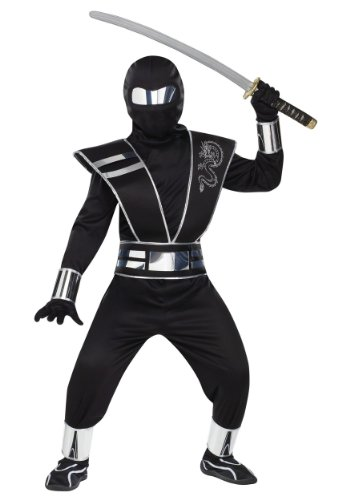 Fun World Silver Mirror Ninja Kids Costume