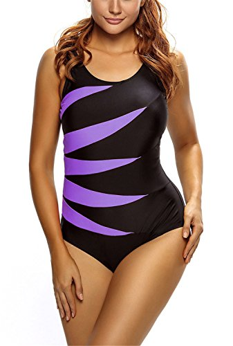 Dokotoo Splicing Monokini Swimsuit Swimwear