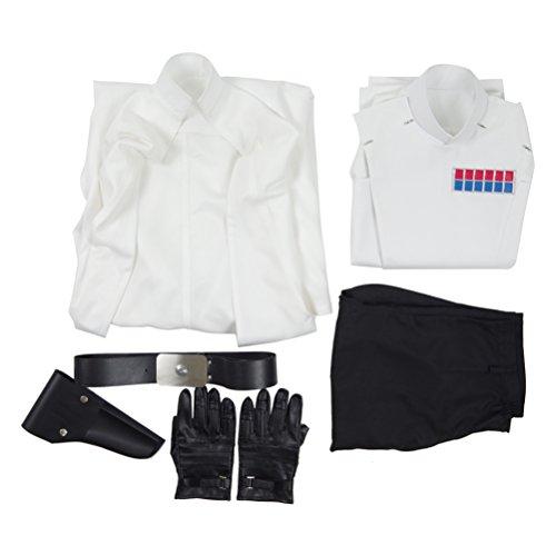 Fancycosplay Mens Battle Uniform White Cloak Full Set Cosplay Costume (Man-XXL) by Fancycosplay (Image #5)