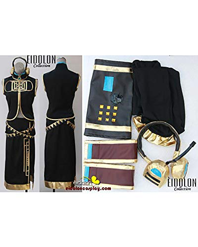 Wo Fei Vocaloid Luka Cosplay Halloween Costume Game Music for Cosplay Show Party Women Girl (M) Black