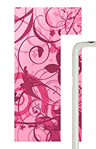 Samsung Galaxy S5 Patterns Pink Swirl PC Custom Samsung Galaxy S5 Case Cover White