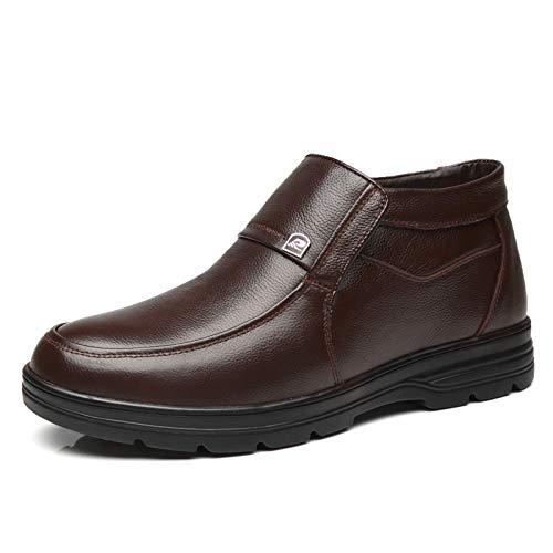 LOVDRAM Stiefel Männer Winter Leder Dad Baumwolle Schuhe Mittleren Und Alten Alter Baumwolle Schuhe Dicke Warme Beiläufige Männer Baumwolle Schuhe