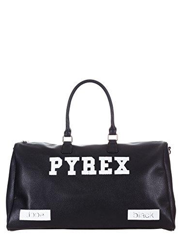 PYREX Logo CM PYREX Borsone Borsone Nero in Unisex ecopelle 54X36X16 Hdq0wq