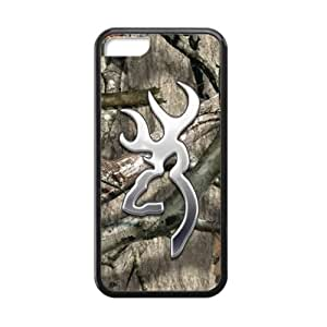 Discount Browning Cutter Logo Camo Snap on Case Cover for iPhone 5C TPU (Laser Technology)