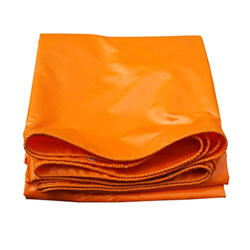 Nevy Tarpaulin Waterproof Thicken Sunscreen Outdoor Orange Canopy Cloth Tent Canvas Plastic Coated Cloth tarps (Size : 4X5M) ()