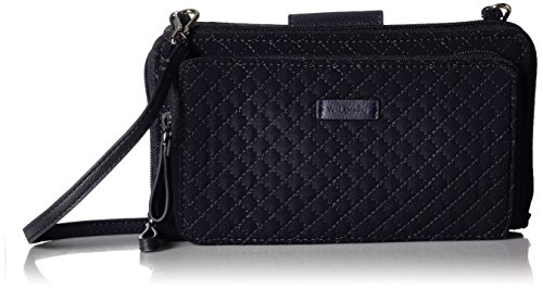 Vera Bradley Iconic Deluxe All Together Crossbody, Microfiber, Classic Navy
