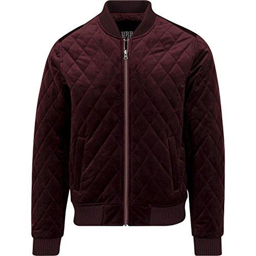 (Diamond Quilt Velvet Jacket burgundy)