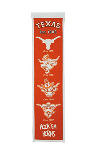 Longhorns Texas Ncaa Banner Fan - Winning Streak Sports NCAA Texas Longhorns Heritage Banner