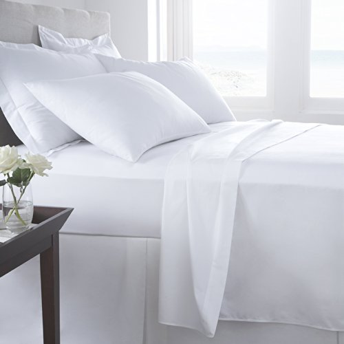 #1 Bed Sheet Set on Amazon! 1800 Thread Count Luxury Hotel Quality Bed Sheets Super Silky Soft Brushed Micro Fiber Wrinkle Free, Fade, Stain Resistant - Hypoallergenic - Deep Pockets Platinum Quality 4 Piece Sheet Sets. Top Quality Luxury Fitted & Flat Sheets, Pillowcases Available in Many Colors and Sizes. (White, King) (Target Set Sheet)