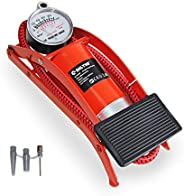 Foot Pump, BOLTHO Portable Floor Bike Pump with Accurate Pressure Gauge & Smart Valves, 100PSI Air Pump fo