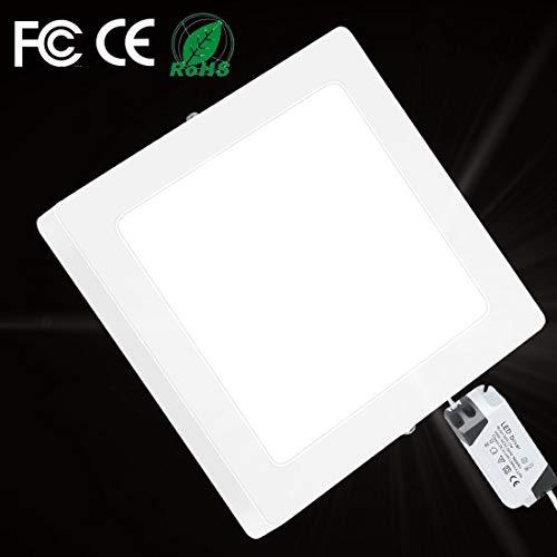 12W LED Panel Light 720LM Flush Mount Ceiling Light Square Lamp for Living Room Bathroom Kitchen Corridor Conference Room Office 6000K Cool White