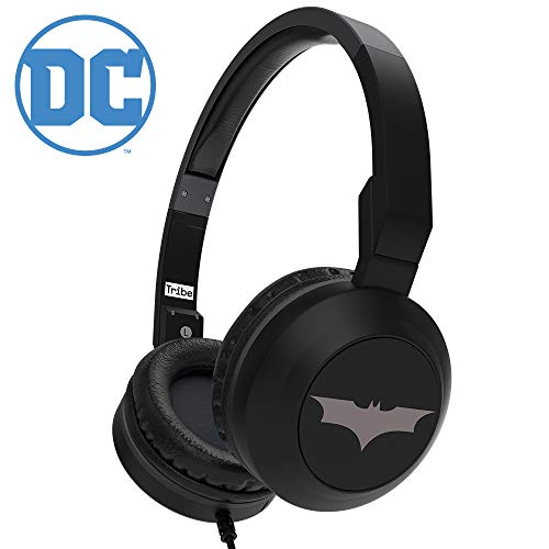 Official Tribe DC Comics Batman On-Ear Foldable Wired Headphones with Microphone