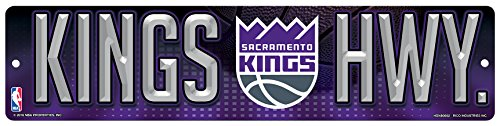 NBA Sacramento Kings 16-Inch Plastic Street Sign Décor (Goods Sacramento Home)