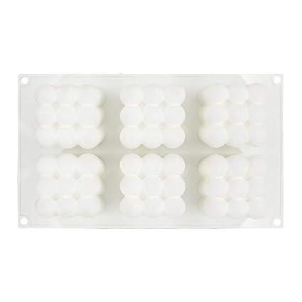3D Forma de Cubo de Rubik Molde para Magdalenas, Apto para Horno Molde de Silicona
