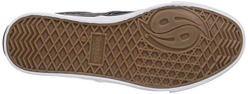 Dockers by Gerli 36CD604-710120 - zapatilla deportiva de lona infantil negro - Schwarz (schwarz/grau 120)