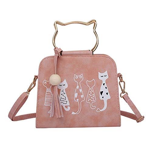 con coniglietti e di tracolla motivo Colore tracolla Rosa gatto Rosa Borsa con a Dimensione Moontang a forma di coniglio W6PtfBIOn