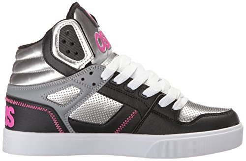 Osiris Frauen Clone Skate Schuh Silber / Rosa / Schwarz