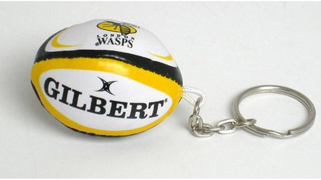 Gilbert Wasps Rugby Ball Keyring Amazon Co Uk Clothing