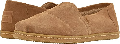 TOMS Men's Venice Collection Alpargata Toffee Suede W/Shearling On Crepe 10 D US D (M) ()