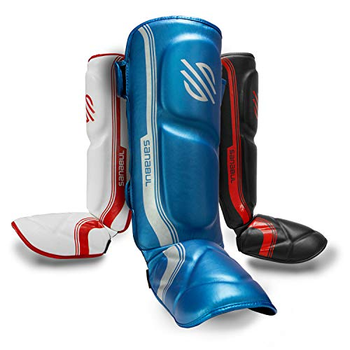 Sanabul Core Advanced Series Hook and Loop Strap Kickboxing Muay Thai MMA Shin Guards