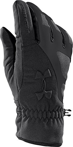 Under Armour Men's ColdGear Infrared Storm Stealth Gloves, Black /Black, Small/Medium from Under Armour