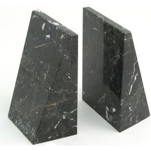 Triangle Black & White Marble Bookends by PhotoFramesPlus