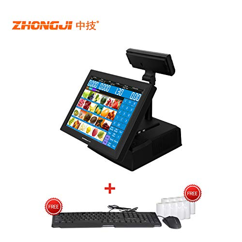 - ZHONGJI ZJ808C All in one Point of Sale Cash Register pos syetem 15.5'' Touch Screen,for Business Restaurants,Retail
