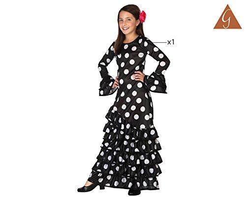 Atosa-26542 Disfraz Flamenca, color (schwarz/weiss), 3 a 4 años ...