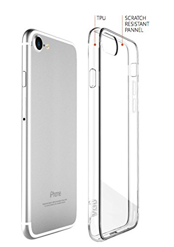 vau Hybrid Case Hülle für Apple iPhone 8 PLUS / 7 PLUS, Schutzhülle transparent