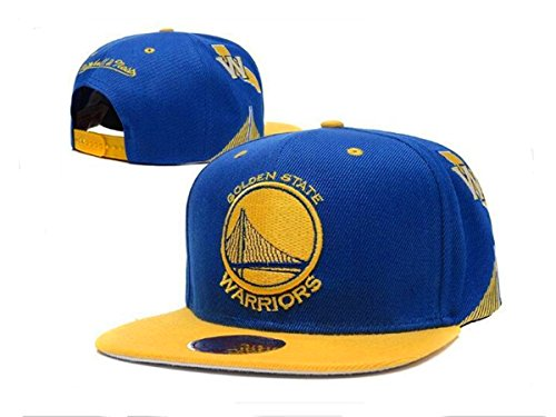 Warriors Hat Unisex Adjustable Fashion Leisure Baseball Hat Golden State Snapback Dual Colour Cap-Blue W