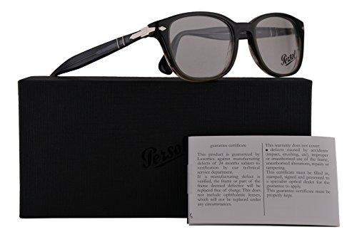 Persol PO3163V Eyeglasses 54-19-145 Gradient Grey w/Demo Clear Lens 1012 PO3163-V PO 3163-V PO - Glasses Persol Prescription