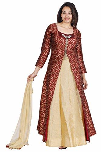 (Salwar Suit for Women (Manmandir Cottonsilk Ghagra Readymade)