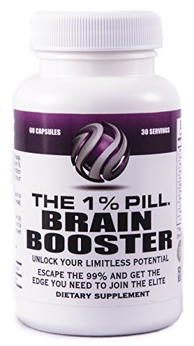 The 1% Pill – Brain Booster – Supports Memory, Focus, Energy, Overall Brain Health & Performance – Money-Back Guarantee – See Our Ingredients, Compare Us To The Competition