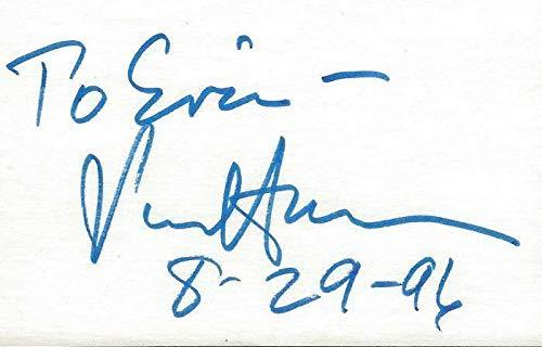 Senator Paul Simon Signed 3x5 Index Card B - Paul Simon Signed