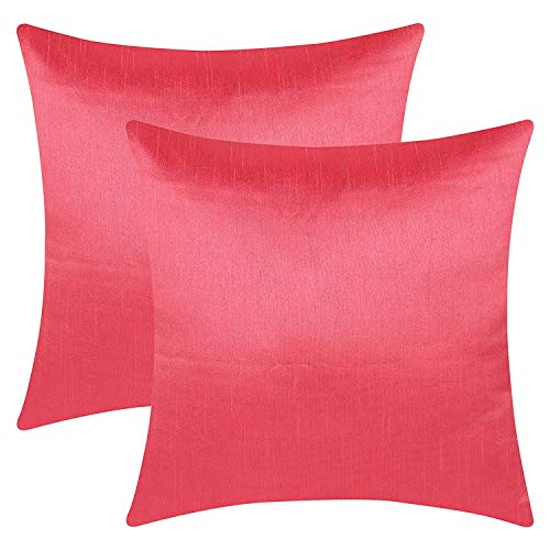 - The White Petals Coral Accent Pillow Covers (Faux Silk, Solid Color, 20x20 inch, Pack of 2)