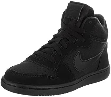 bff0eb33e4ae Nike Kids Court Borough Mid (PS) Black Black Black Basketball Shoe 3 Kids  US  Buy Online at Low Prices in India - Amazon.in
