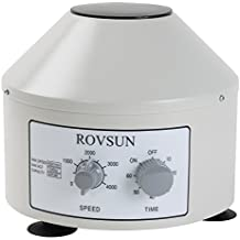 ROVSUN Desktop Electric Centrifuge Machine Laboratory Medical Practice,Timer(0-60min) and Speed(0-4000rpm) Control Capacity 20 ml x 6 Tubes,110V Low Speed Portable Benchtop Centrifuge
