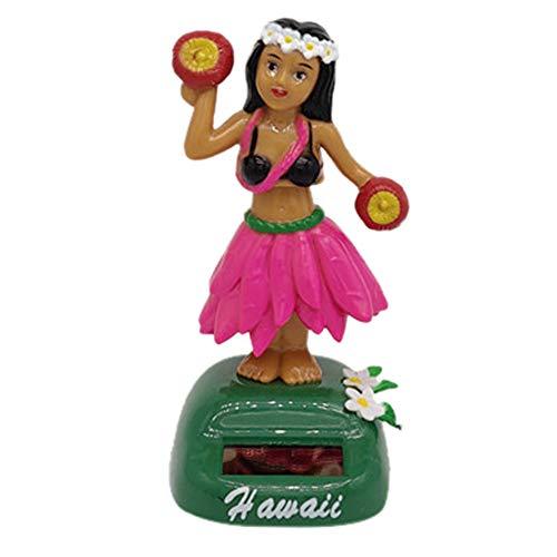 Hawaii Girl Solar Dancing Toy, Solar Powered Dancing Halloween Swinging Animated Bobble Dancer Toy Car Decor (B) -