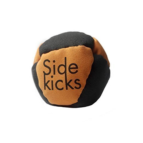 Sidekicks Hacky Sack - Classic Sand Filled Footbag | Best for Dirtbag Practice, Juggling Practice Hand Stitched Synthetic Suede