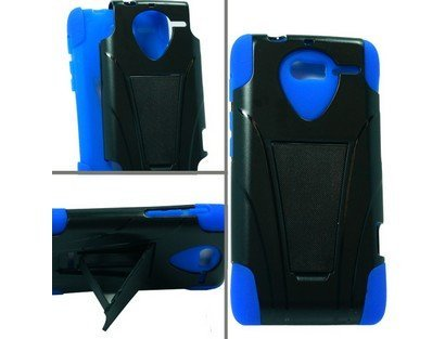 - Hybrid Case Blue/Black for Motorola Droid RAZR M XT907