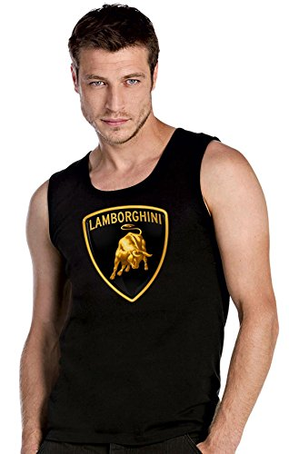 LAMBORGHINI FUN AUTO schwarze Top Tank T-Shirt -2507