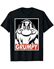 Disney Snow White Grumpy Streetwear Poster Graphic T-Shirt