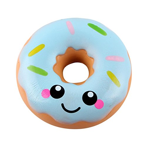 Livoty 11cm Lovely Doughnut Cream Scented Squishy Slow Rising Squeeze Toys Collection (Blue)